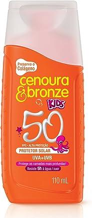 Protetor Solar Loção 110Ml Fps50 Kids Unit, Cenoura e Bronze
