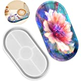 DIY Tray Resin Mould Craft Oval Creative Jewelry Making Mould Plate Dish Ashtray Mould for Resin Epoxy Mould Silicone Resin C