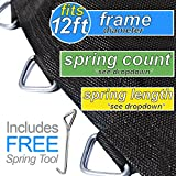 Trampoline Pro 127'' Mat with 72 Rings for 12ft Round Frame and 5.5'' Springs