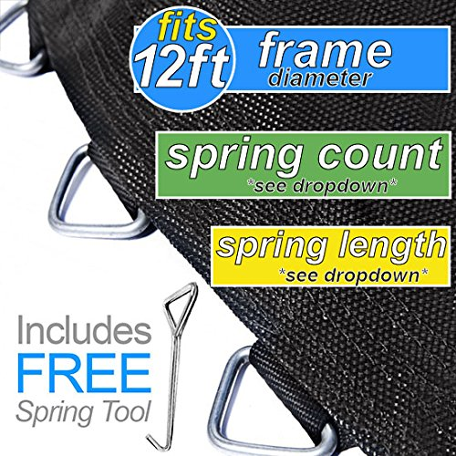 """Trampoline Pro 127"""" Mat with 72 Rings FOR 12ft Round Frame and 5.5"""" Springs"""