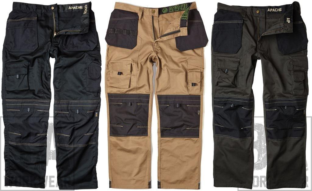 Apache Mens Holster Polycotton Holster Trouser Black 34W x 29L
