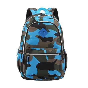 Mochila para niños con ruedas - Mochila con mochila para lluvia para niños y niñas de la escuela (azul): Amazon.es: Equipaje