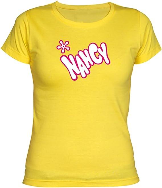 Camisetas EGB Camiseta Chica Nancy ochenteras 80´s Retro: Amazon.es: Ropa y accesorios