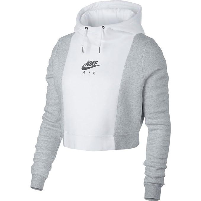 Sudadera capucha Nike – Sportswear Rally blanco/gris/plateado talla: XS (X