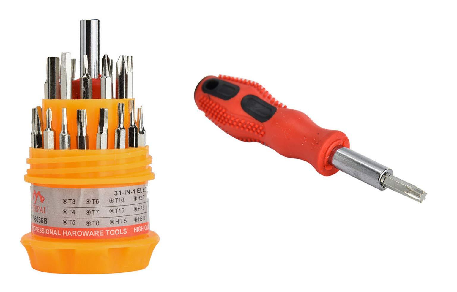 Screwdriver, XUANOU Delicate 31 In 1 Precision Set Handle Screwdriver Mobile Phone Repair Kit Tool