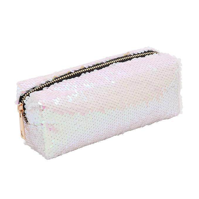 Bolso de mano DIY Bolsos Mujer Reversible de Doble color Moda Bolso de lentejuelas Para fiesta Noche Blanco Talla Única: Amazon.es: Ropa y accesorios