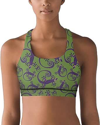 JECIA HOLDER Womens Gym Vest Green Weed Leaf Yoga Bra Tank