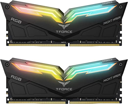 TEAMGROUP TForce mdulo para aumentar la memoria RAM Night Hawk RGB de doble canal negro at Kapruka Online for specialGifts