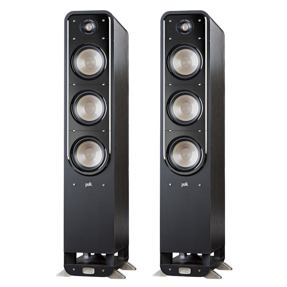 Polk Signature S60 American HiFi Home Theater Tower Speaker (Pair, Black) by Polk Audio