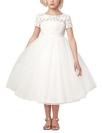 1a646d4fd467d9 Tiaobug Tiaobug Mädchen Kinder Kleid Tüll Schichten Hochzeit Festzug  Kleidung Blumenmädchen Kleider Festlich 92-164 Kleider  Amazon.de   Bekleidung