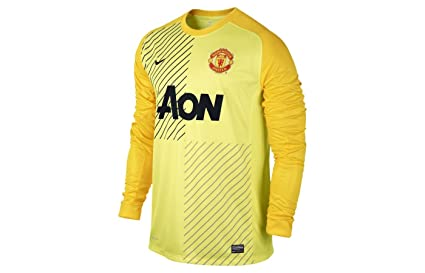 00101154d Image Unavailable. Image not available for. Color  NIKE 2013-14 Man Utd  Home Goalkeeper Shirt ...