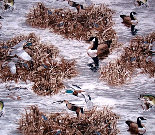 Duck on Pond Camo Fleece Throw Blanket