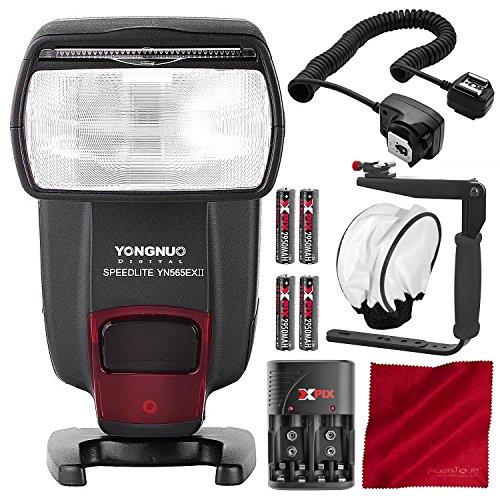 Yongnuo YN-565EX I/II C Speedlite Flash for Canon Cameras with Accessory Bundle