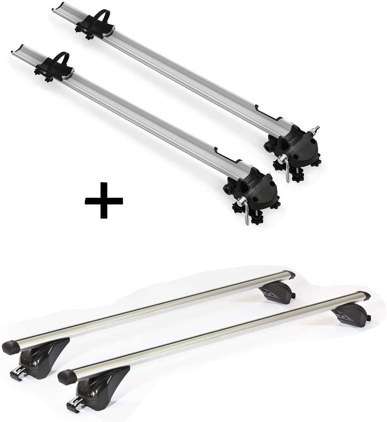 Barres de Toit VDPKING1 Compatible avec BMW X3 F25 5 Portes Lot de 2 Porte-v/élos Bike Pro 11-17