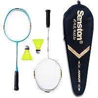 Senston Sets de Badminton pour Enfants Junior Cadeau pour Les Enfants Graphite Raquette de Badminton(3 Couleurs) Y Compris 2 Racket / 2 Volants / 1 Sac