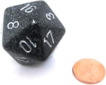 Jumbo d20 Counter - Speckled 34mm Dice: Ninja