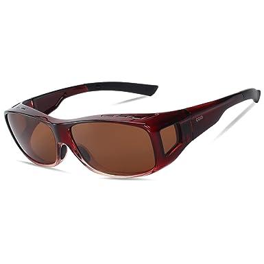 acb9138aa7096 CGID Lentes de sol para usar sobre lentes de prescripción RX lentes que se  ajustan lentes polarizados