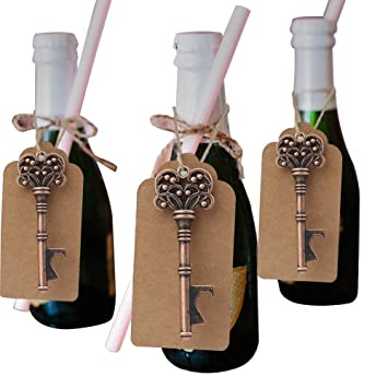Amazon Aparty4u 50pcs Wedding Souvenirs Skeleton Bottle Opener