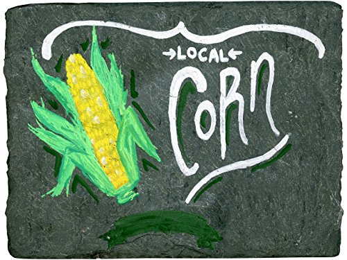 local-corn-chalk-art-hand-painted-plaque-on-new-england-primitive-roof-slate-with-wall-mount-and-sta