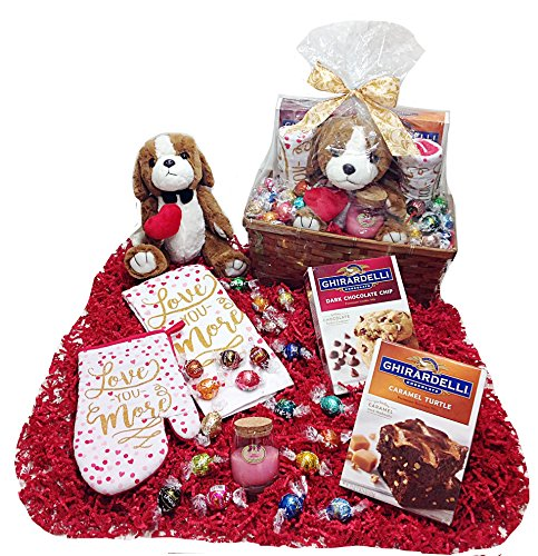 Kitchen & Baking Deluxe Valentines Day Gift Basket – Lindt Lindor Truffles Chocolate C ...