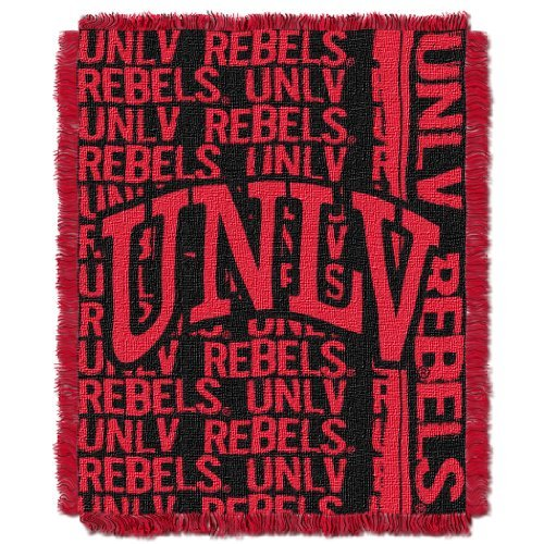 NCAA UNLV Rebels 46 x 60-Inch Double Play Jacquard Triple Woven Throw by Northwest