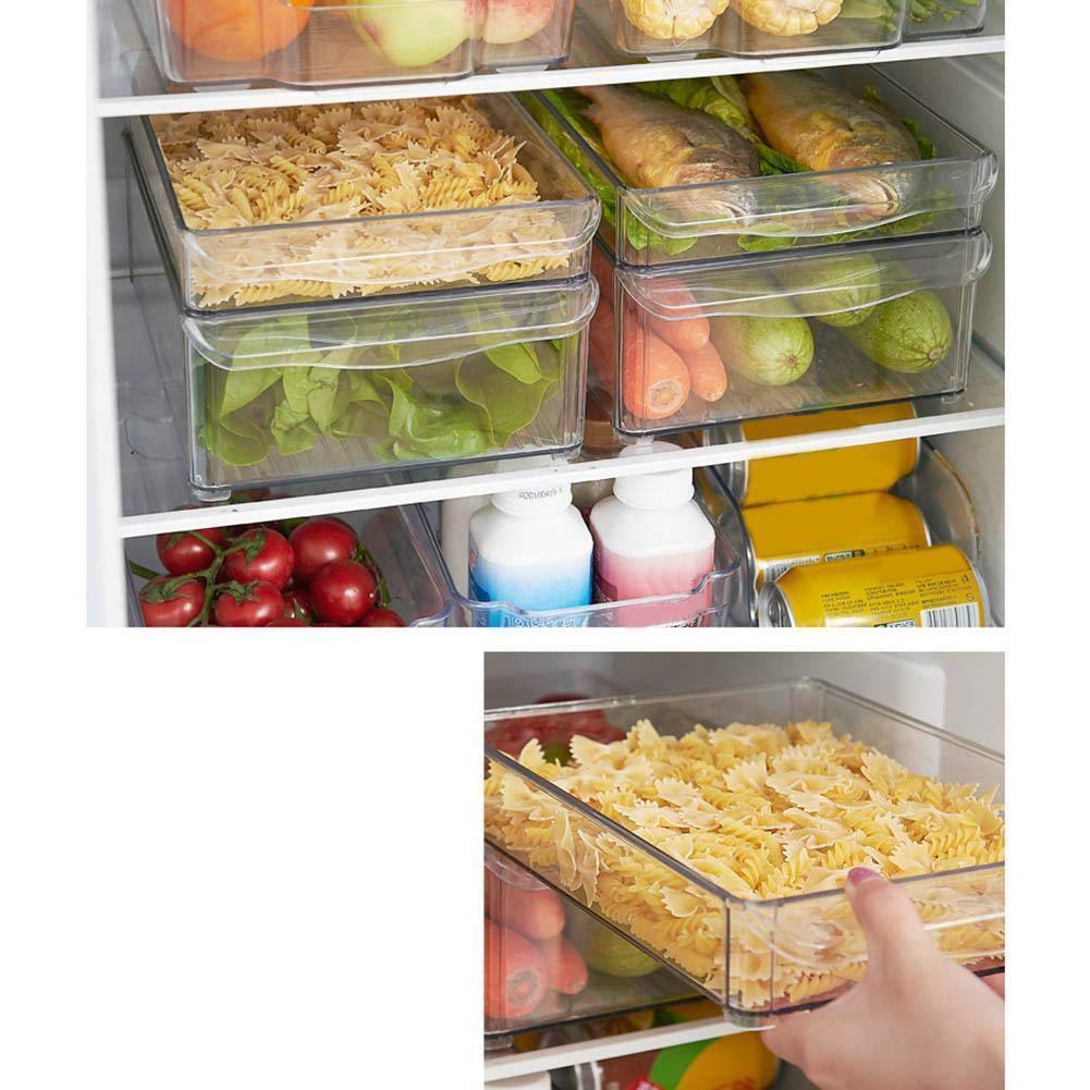 30 x 20 x 5 cm Organizador acr/ílico para frigor/ífico y Verduras sin Tapa Guilty Gadgets tama/ño Grande 2 Unidades