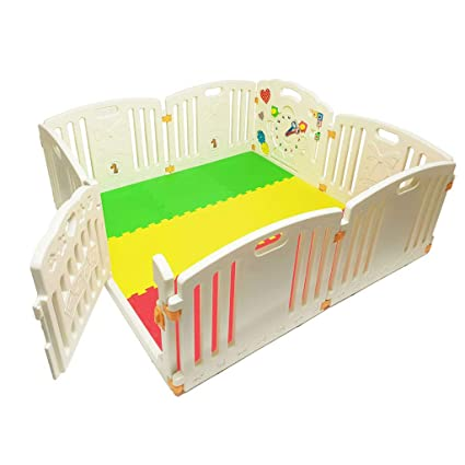 Colourful Playpen with Mats