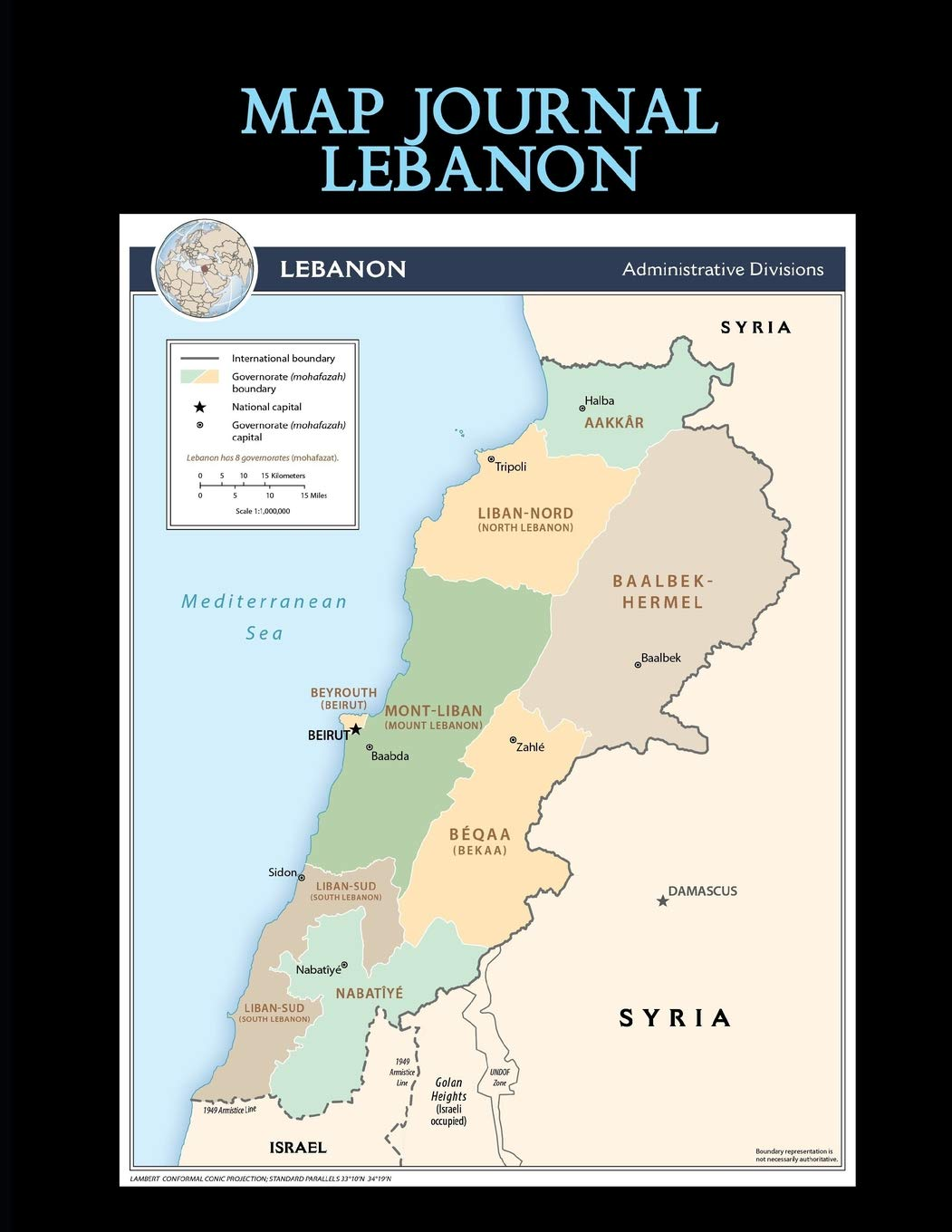 Map Journal Lebanon 150 Page Lined Notebook Diary Amazon