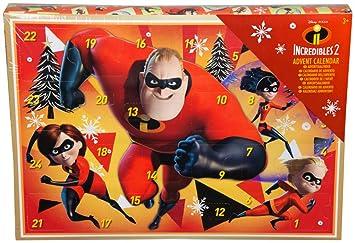 Los Increíbles 2 Calendario de Adviento para Niños con Crayones Pegatinas Holográfico Juguete Disney Pixar para