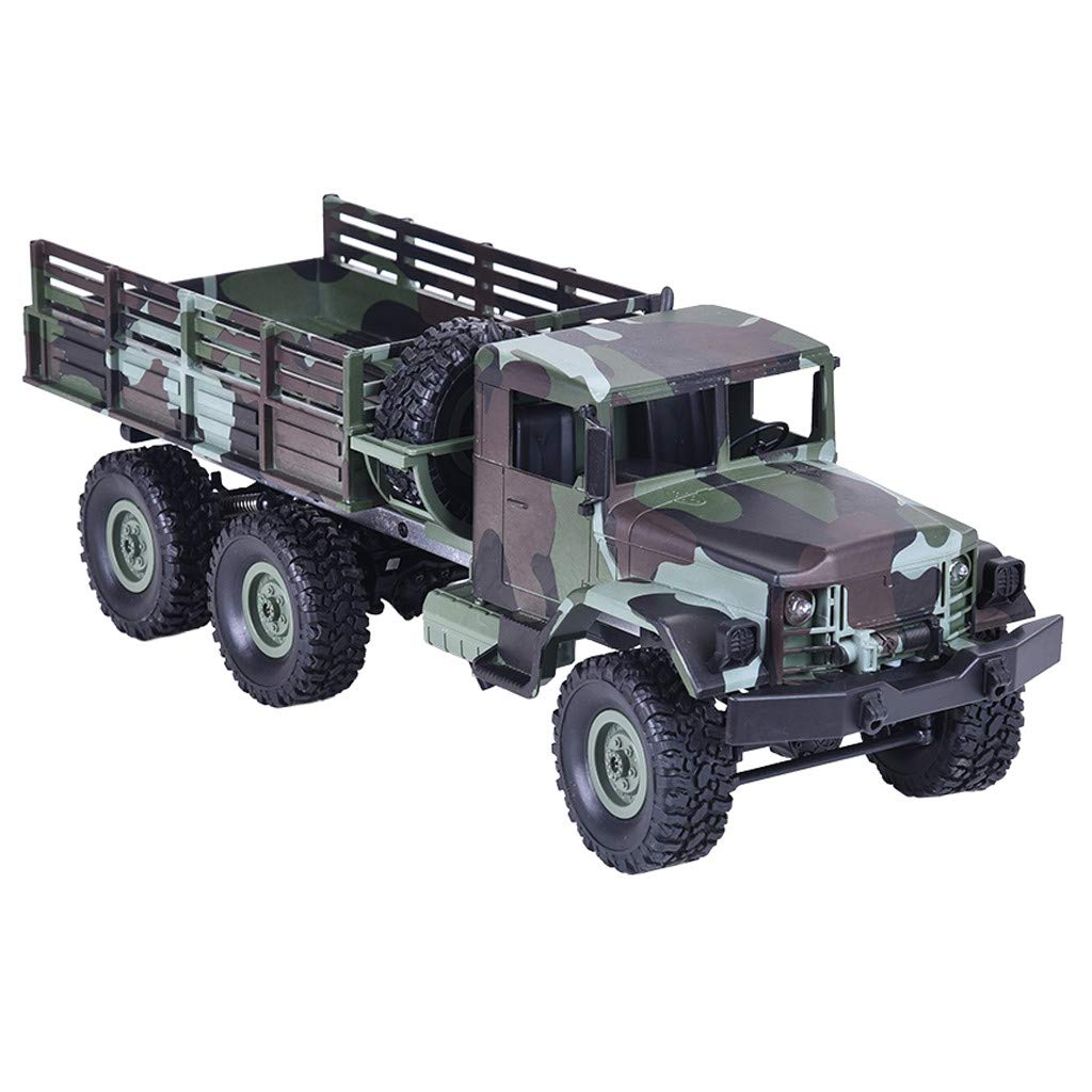 Rigel7 Remote Control Car, RC Military Truck Army MN-77 2.4G 1:16 4WD Wheels Off-Road RC Car RTR Toy with LED Lights RTR