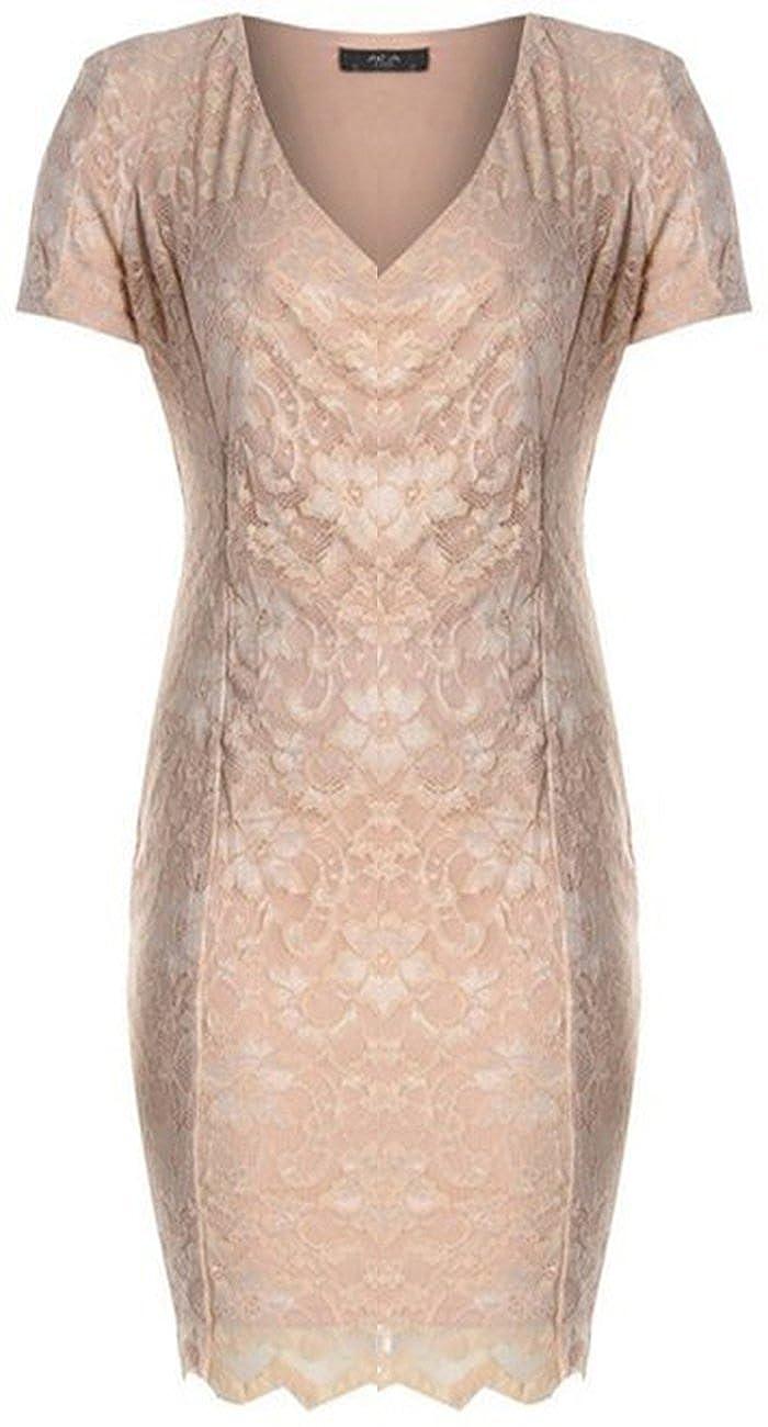 Women's Front Lace Wrap Padded Shoulder Dress
