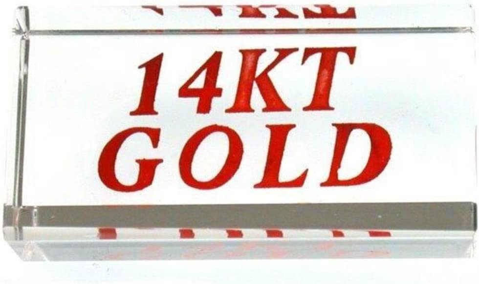 2 Display Signs 14KT Gold Showcase Jewelry Countertop