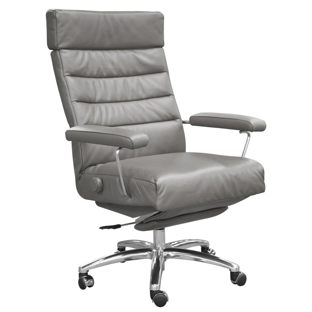 Amazon.com Adele Executive Recliner Office Chair Grey Leather by Lafer Recliner Chairs Kitchen u0026 Dining  sc 1 st  Amazon.com & Amazon.com: Adele Executive Recliner Office Chair Grey Leather by ... islam-shia.org