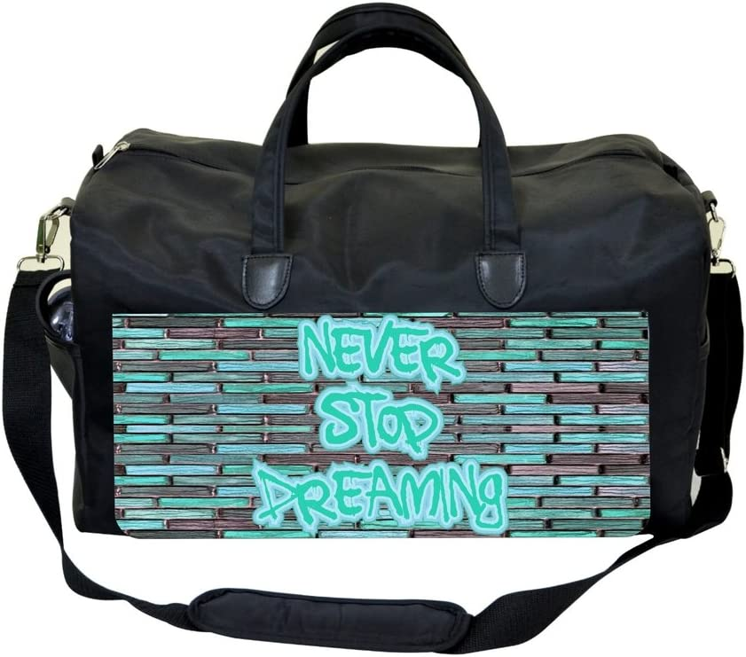 Never Stop Dreaming Graffiti Art Gym Bag