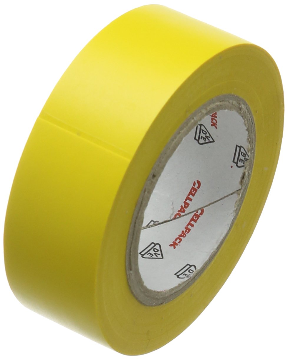 Cellpack 145811  128  0.15-19-10, PVC Electrical Insulation Tape, Yellow