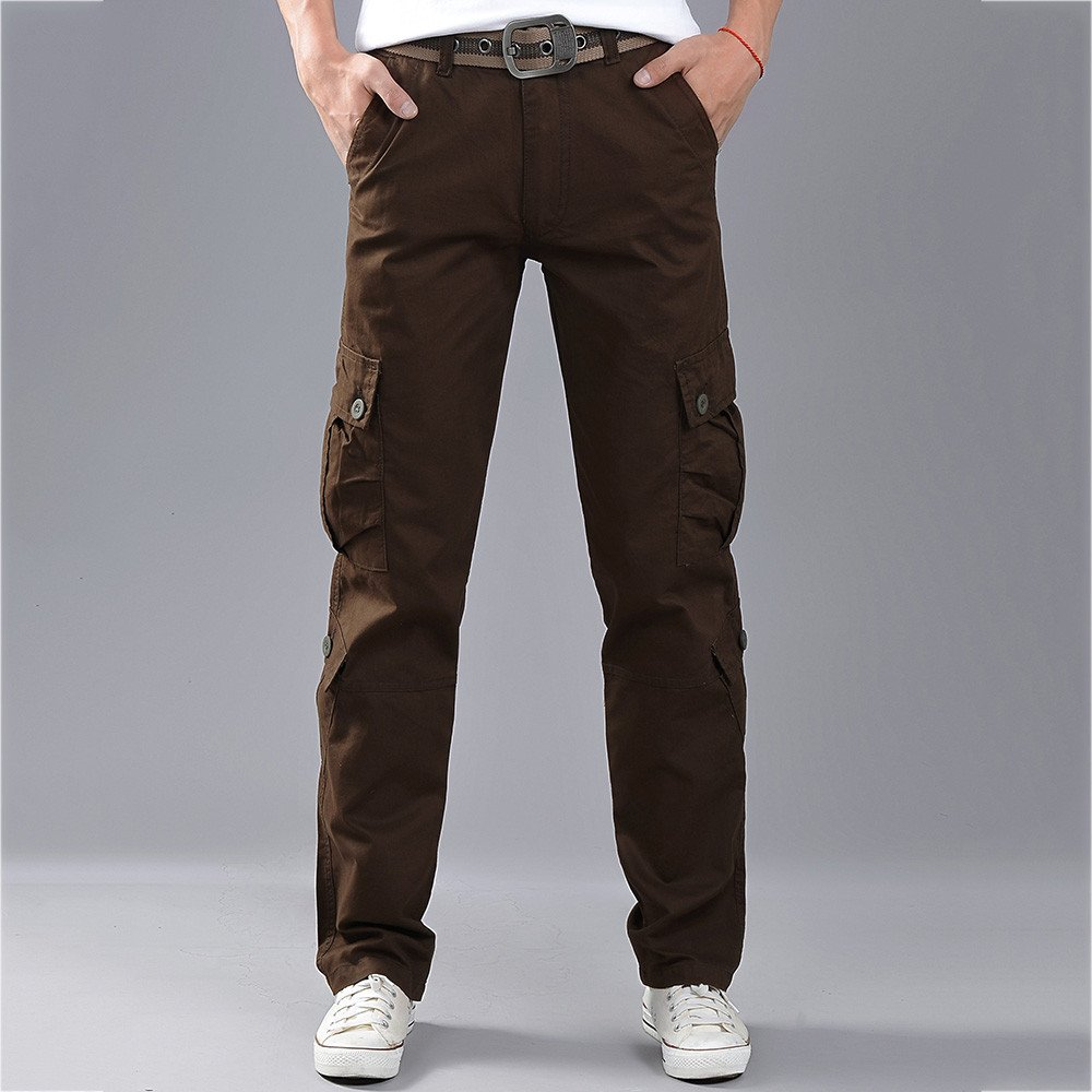 YanHoo Pantalones de Jogging Camuflaje Militar Pantalones Militares para Hombre Pantalones Casuales de Trabajo con Cremallera y Cintura de Carga con ...
