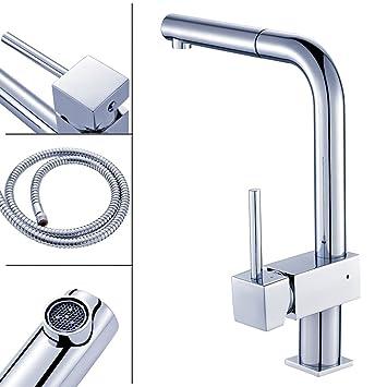 auralum® 360°rubinetto di lavabo con canna alta flessibile ... - Rubinetto Cucina Con Doccetta Estraibile