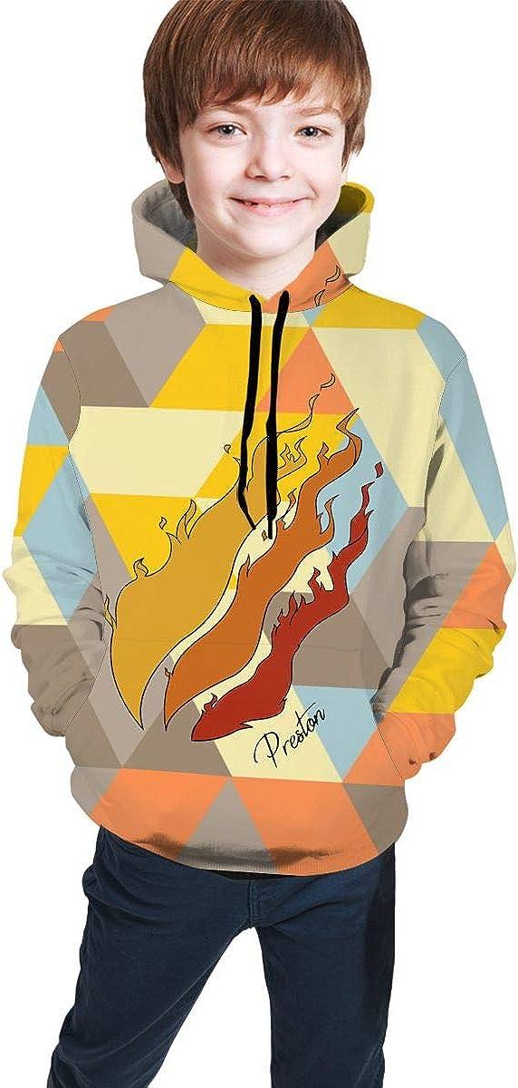 PAJACC Popular Preston Playz 3D Print Hoodie Long Sleeve Pullover Sweatshirts for Kids Boys and Girls