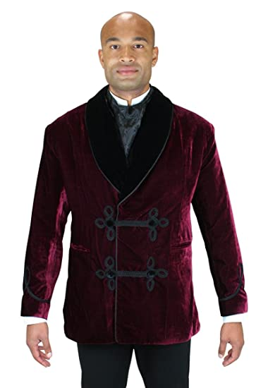 Victorian Mens Suits & Coats Vintage Velvet Smoking Jacket $129.95 AT vintagedancer.com