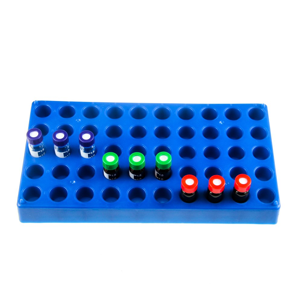 Rack for Autosampler vials Green, 1 Pack 60 Holes 2mL