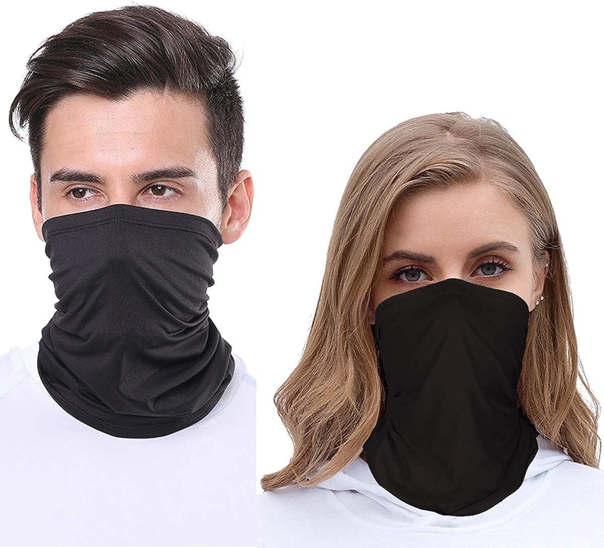 2 Pack Neck Gaiter Face Mask for Women Men, Cool when wet, Dust UV Protection