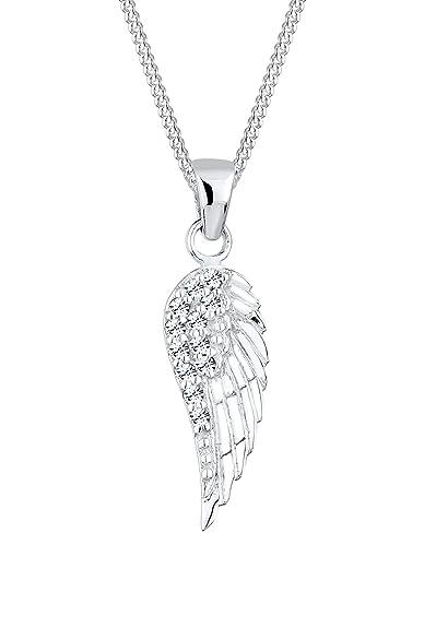 Elli Women's 925 Sterling Silver Xilion Cut Crystal Wing lassic Elephant Pendant Necklace yfBlXR2
