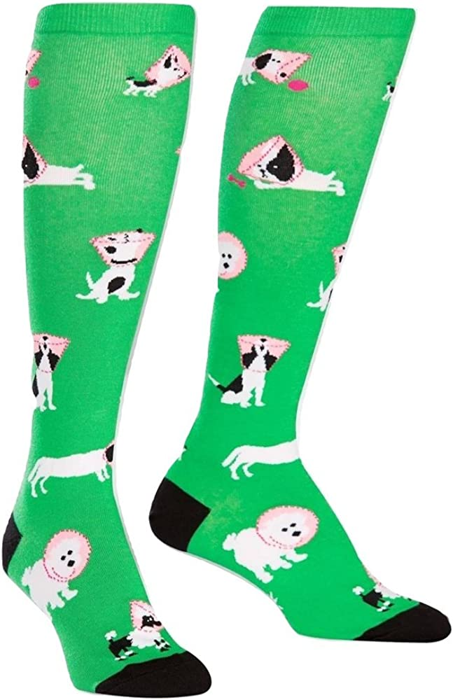 Sock It To Me Womens Cone of Shame Puppy Dog Knee High Socks