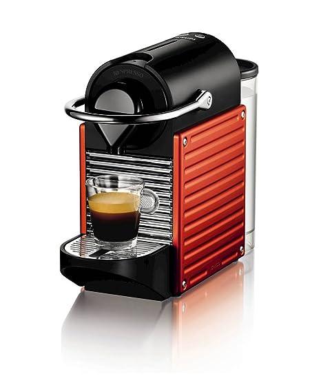 Nespresso Pixie por Krups Cafetera XN300640, rojo eléctrico ...