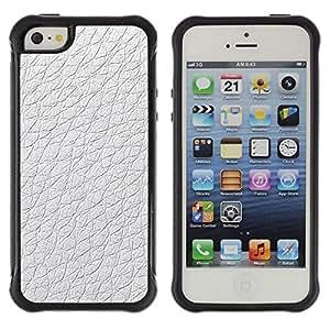 "Pulsar iFace Series Tpu silicona Carcasa Funda Case para Apple iPhone SE / iPhone 5 / iPhone 5S , Material de diseño blanco del papel pintado"""