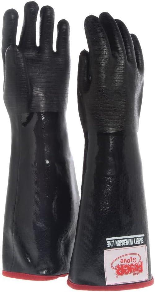 The Fryer Glove Black Neoprene Large Fryer Gloves with Removable Brushed Jersey Liner - 18