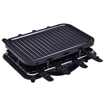 Barbacoa grill Rectángulo Parrilla Eléctrica 8 sartenes ...