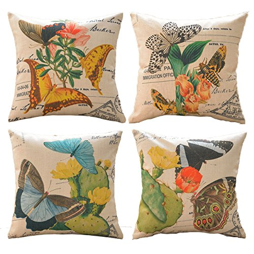 Sykting Decorative Pillowcase Butterfly Printing product image