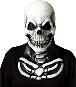 Forum Novelties Adult Skull Mask with Skeleton Chest Piece Costume Accessory, One Size