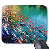 xtrac mouse pad - Colorful Carp Mouse Pad 11.8 X 9.8 In